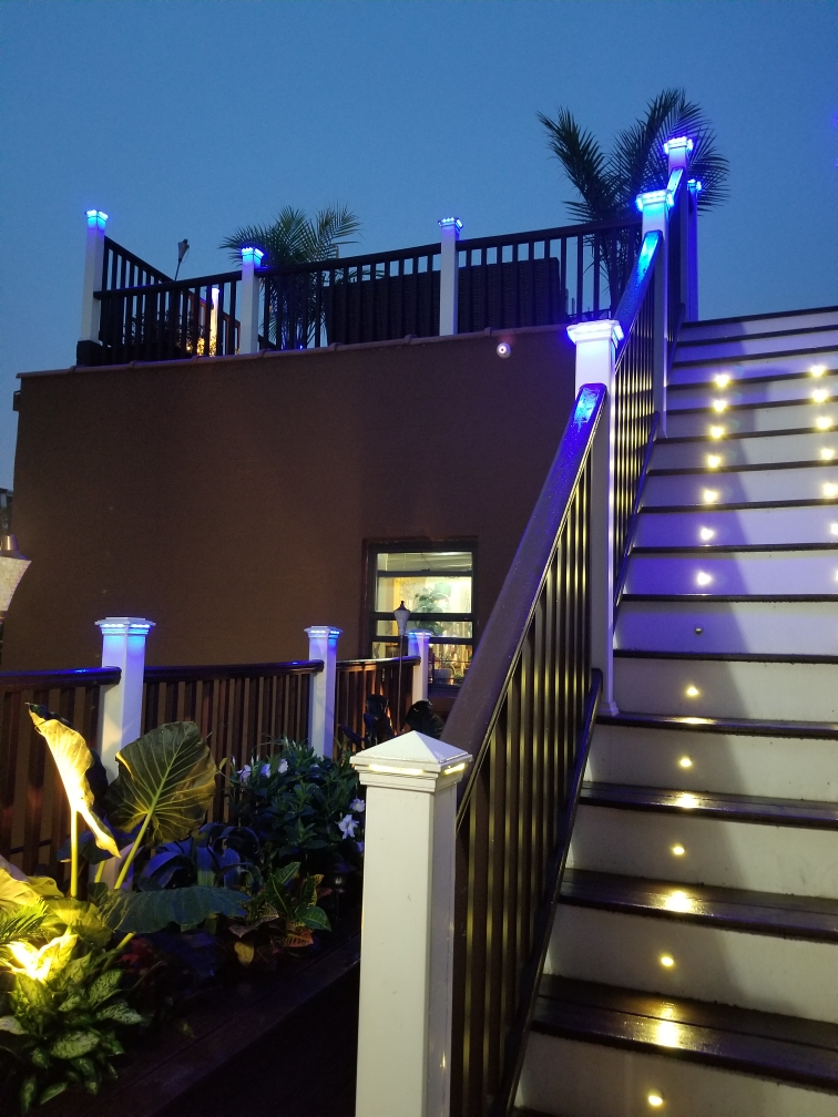 Home of the Month Lighted Up Stairs